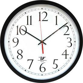 "Chicago Lighthouse 16.5"" Round SelfSet Wall Clock, Plastic Case, Black"