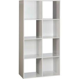 OneSpace 8 Cube Storage Organizer   White