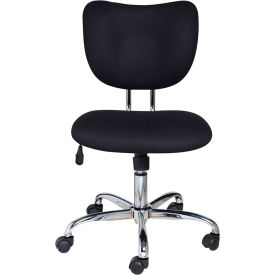 OneSpace Mid-Back Fabric Task Chair - Black