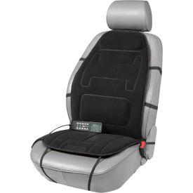 Relaxzen 10-Motor Massage Seat Cushion with Heat and Extra Foam - Black