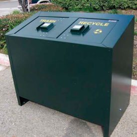 BearSaver BE Series 140 Gal. Animal Resistant Waste/Recycling Receptacle - Brown