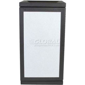 SECURR® Sentinel 36 Gal. Indoor Recycling Receptacle w/ Inward Slope- Black