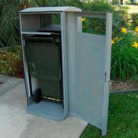 SECURR® CG Series 32 Gal. Poly Cart Garage - Steel Blue