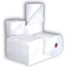 """Chemtex BP12W Sorbent Pads, Oil-Only, 15"""" x 19"""", Double Weight, Bonded Meltblown, 100/Pack"""