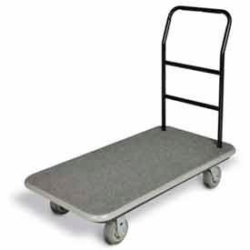 "CSL Utility Cart Gray Carpet, Gray Bumper, 5"" Gray Poly Wheels"