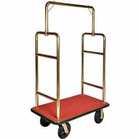 CSL HD Square Bellman Cart Titanium, Red Carpet, Black Bumper