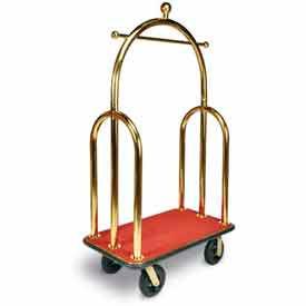 CSL HD Bellman Cart Titanium, Red Carpet, Black Bumper, Titanium Gold Finish