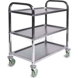 CSL Stainless Steel Service Trolley Cart with 3 Shelves