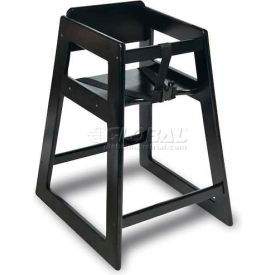 CSL Deluxe Wood High Chair, Black Finish, 2-Pack Pkg Count 2 by