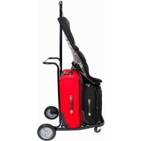 CSL Lug-A-Bout Luggage Hand Cart 8300-LAB with Garment Hook, Steel Finish