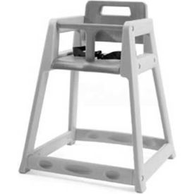 CSL Plastic High Chair, Gray, Unassembled