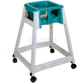 CSL KidSitter™ High Chair with Casters, Gray Frame/Green Seat