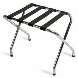 Flat Top Zinc Luggage Rack with Black Straps, 6 Pack - Pkg Qty 6