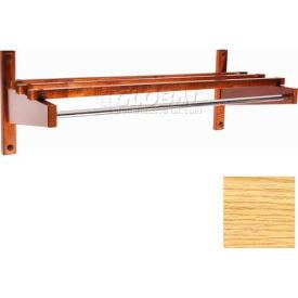 "30"" Economy Wood Coat Rack with 5/8"" Mini Rod, Natural"