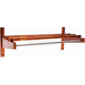 "36"" Economy Wood Coat Rack with 5/8"" Mini Rod, Walnut"