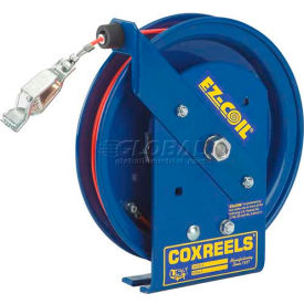 Safety Series Spring Rewind Static Discharge Cord Reel: 100' Cord,