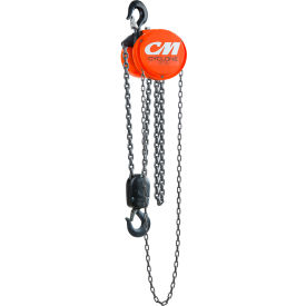 CM Cyclone Hand Chain Hoist, 3 Ton, 10 Ft. Lift