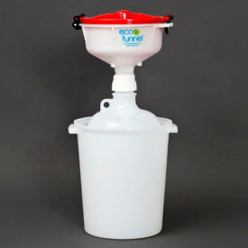 "ECO Funnel® EF-3008C-SYS 8"" ECO Funnel System, 8L Carboy & Secondary Container, Red Lid"