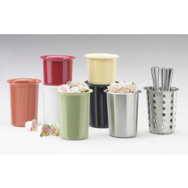 "Cal-Mil 1017-64 Utensil / Condiment Cylinders 4-1/2"" Dia. X 5-1/2"" H Cranberry - Pkg Qty 3"