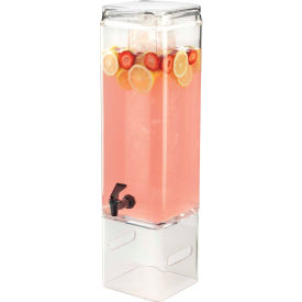 """Cal-Mil 1112-3AH Classic Acrylic Beverage Dispenser With Handles 3 Gallons 9-1/2""""W x 7""""D x 26""""H"""