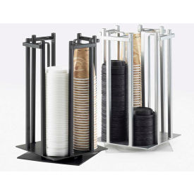 """Cal-Mil 1133-13 One by One Rotating Cup and Lid Organizer 10""""W x 10""""D x 15-3/4""""H Black"""
