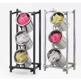 """Cal-Mil 1134-74 One by One Cylinder Display 7-1/2""""W x 6-1/2""""D x 17-1/2""""H Silver"""