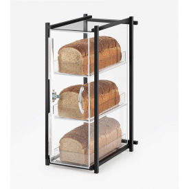 """Cal-Mil 1155-13 One by One Bread Case 9-1/2""""W x 14-1/2""""D x 19-3/4""""H Black"""