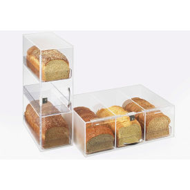 "Cal-Mil 1204 3 Tier Bread Box Frosted With Trays 7""W x 12""D x 20""H"