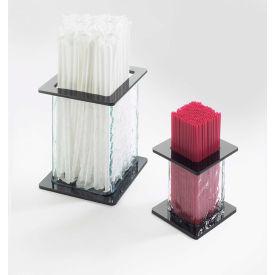 "Cal-Mil 1228 Faux Glass Stir Sick / Straw Holder 3-1/2""W x 3-1/2""D x 3-1/2""H - Pkg Qty 6"