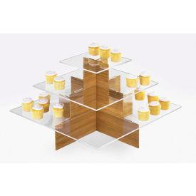 "Cal-Mil 1284-60 Bamboo Cupcake Display 24""W x 24""D x 14-1/2""H"