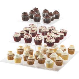 "Cal-Mil 1318-60 Large Cupcake Display 20""W x 20""D x 17-1/4""H Bamboo"