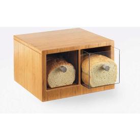 "Cal-Mil 1337-60 Bamboo 2 Drawer Bread Bin 14""W x 13-1/2""D x 5-3/4""H"
