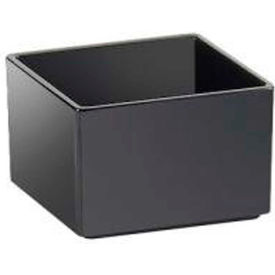 """Cal-Mil 1393-13M Tray For Cater Choice System 10""""W x 10""""D x 3""""H Black Melamine - Pkg Qty 2"""