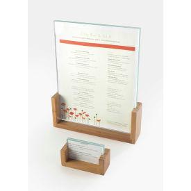 "Cal-Mil 1510-32-60 U-Frame Tabletop Cardholder 3-1/2""W x 1""D x 2""H Bamboo - Pkg Qty 6"