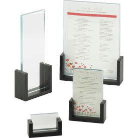 "Cal-Mil 1510-811-96 Midnight U-Frame Tabletop Cardholder 8-1/2""W x 1-1/2""D x 11""H - Pkg Qty 6"