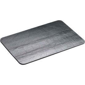 "Cal-Mil 1522-1020-65 Rectangle Slate Serving / Display Stone 10""W x 20""D x 1/4""H Black - Pkg Qty 6"