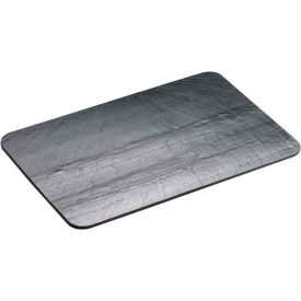 "Cal-Mil 1522-44-65 Square Slate Serving / Display Stone 4""W x 4""D x 1/4""H Black - Pkg Qty 6"