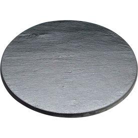 "Cal-Mil 1523-12-65 Round Serving / Display Stone 12"" Dia. x 1/4""H Black - Pkg Qty 6"