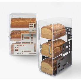 """Cal-Mil 1614-55 Squared Bread Case 7""""W x 12""""D x 20""""H Stainless Steel"""