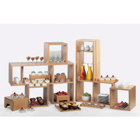 """Cal-Mil 1933-60 Bamboo Library Shelf System with One Removable Shelf 38""""W x 12""""D x 24""""H"""
