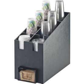 "Cal-Mil 2045 Classic Cup/Lid Organizer and Java Jacket Dispenser 9-1/4""W x 19-1/4""D x 16-3/4""H"