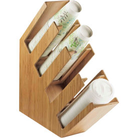 """Cal-Mil 2048-4-60 4 Section Bamboo Cup and Lid Holder 4-3/8""""W x 20""""D x 19-1/2""""H"""