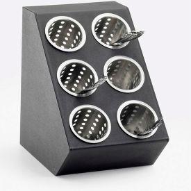 "Cal-Mil 2049 Classic Flatware Condiment Dispenser 6 Cylinder Display 11-1/2""W x 15-3/4""D x 15-3/4""H"