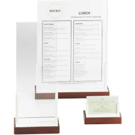 """Cal-Mil 3016-811-55 Luxe Signage and Menu Holder Stainless Steel Accent, 8"""" x 11"""" Card"""