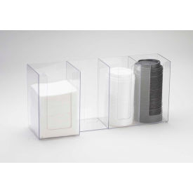 """Cal-Mil 376-13 4 Section Napkin and Lid Organizer 17-1/2""""W x 5""""D x 8""""H Black"""
