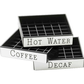 """Cal-Mil 632-2 Decaf Engraved Drip Tray 4""""W x 4""""D Package Count 12 by"""