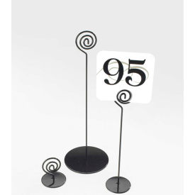 "Cal-Mil 661-12-13 Iron Number Stand 4""W x 4""D x 12""H Black - Pkg Qty 12"