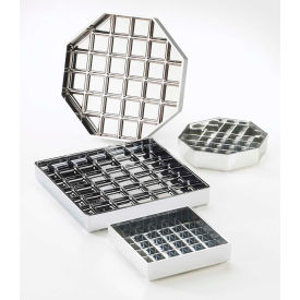 """Cal-Mil 681-4-13 Classic Square Drip Tray Black 4""""W x 4""""D x 1""""H Package... by"""