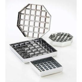 """Cal-Mil 681-6-13 Classic Square Drip Tray Black 6""""W x 6""""D x 1""""H - Pkg Qty 12"""