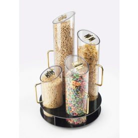 """Cal-Mil 723 Turntable Cereal Dispenser 12"""" Dia. x 20""""H With Black ABS Base"""
